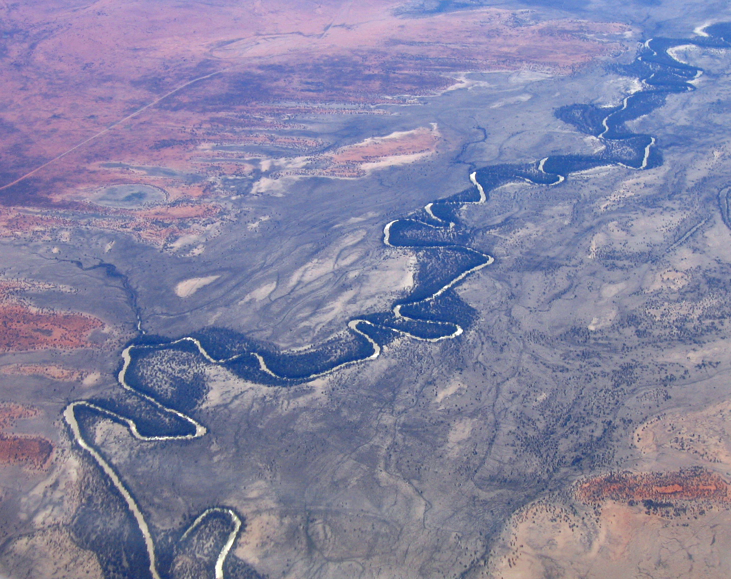 Aerial photo of the Darling River